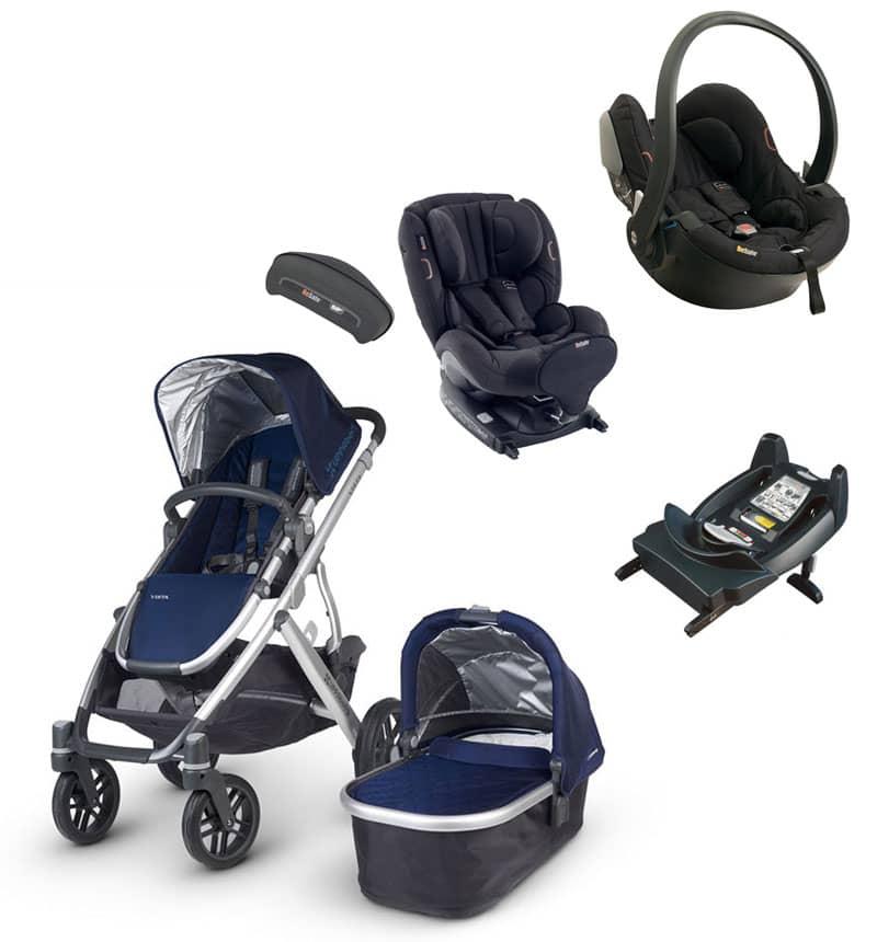 Cochecitos Bebe: Uppababy Pack Cruz Aluminio Kid X2 Car Int