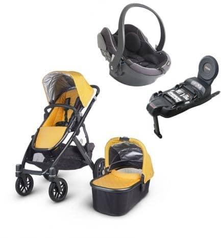 Cochecitos bebe uppababy trio vista negro izi go modular for Silla uppababy vista