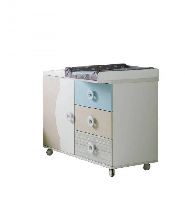 Mueble cambiador bebe comoda 3c 1p de ros bitti - Comoda cambiador bebe ...