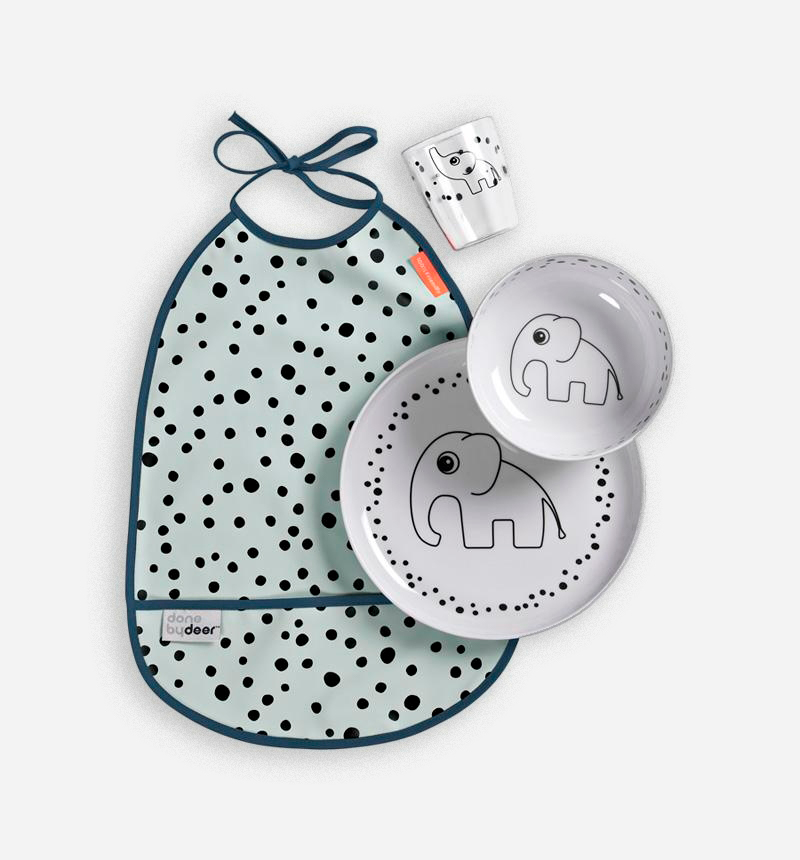SET DE COMIDA HAPPY DOTS de Donebydeer