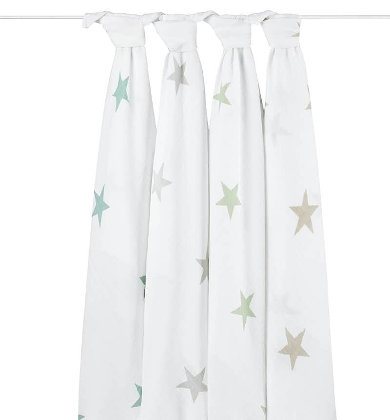 Muslins BABY (PACK OF 4) + Anais Aden