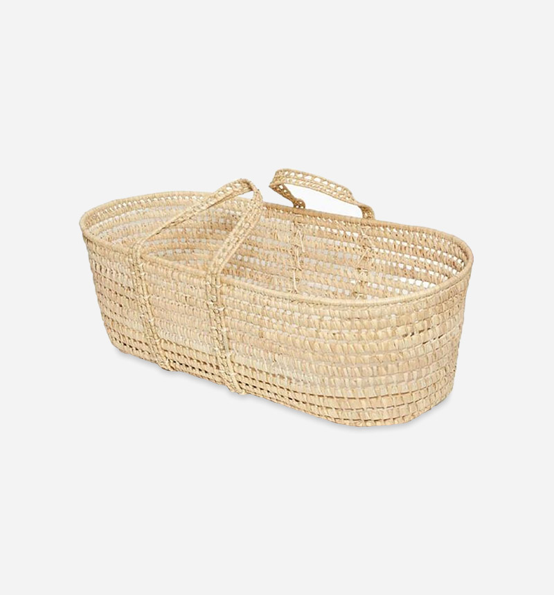 WICKER BASKET AND MATTRESS for Baby Shower