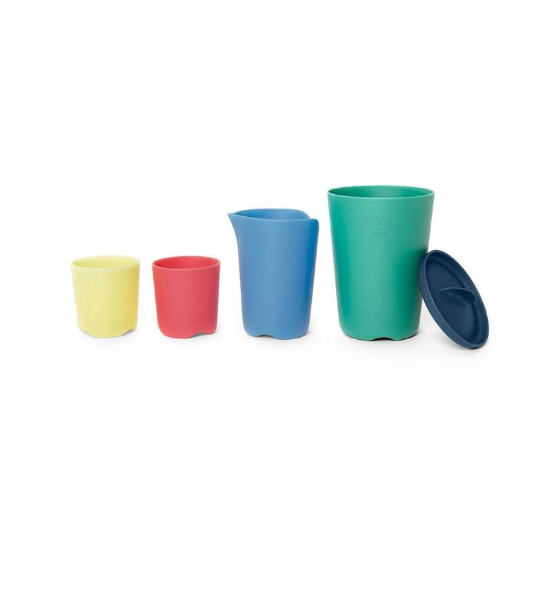 FLEXI BATH MULTICOLORED TOY MUGS by Stokke