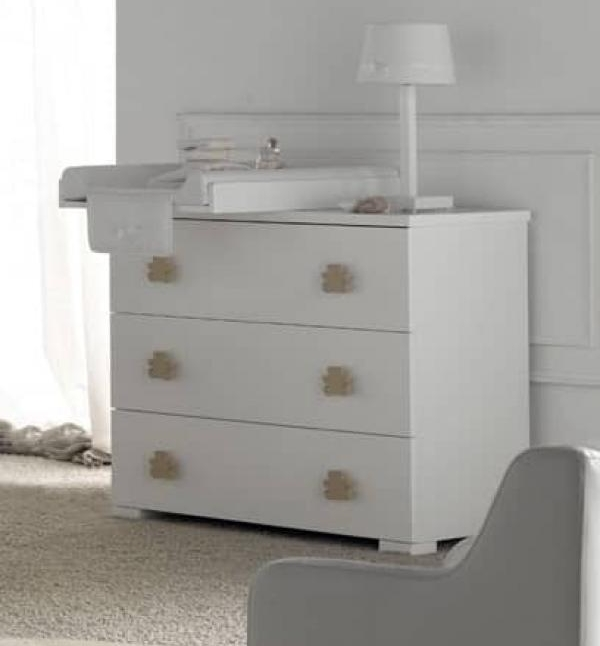 Mueble cambiador bebe comoda duna grandes tiradores en color de - Cambiador bebe para comoda ...
