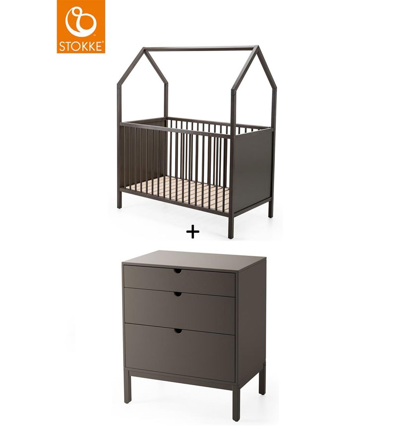 PACK EXHIBITION CUNA HOME + CONFORTABLE GRIS BRUMA STOKKE