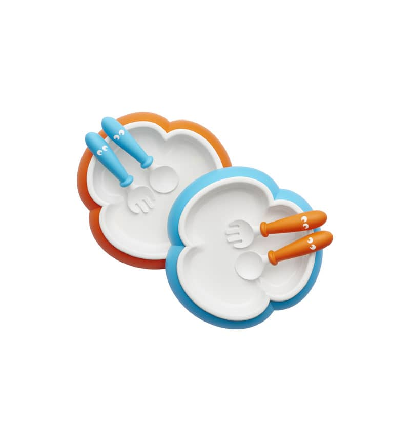 PACK PLATE, FORK AND SPOON BABY BJORN