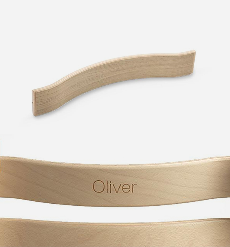PERSONALIZATION BACKING FOR TRIPP TRAPP OAK by Stokke