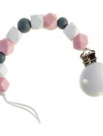 SILVER BUCKET WITH SILICONE PEARLS from Bebe-llo