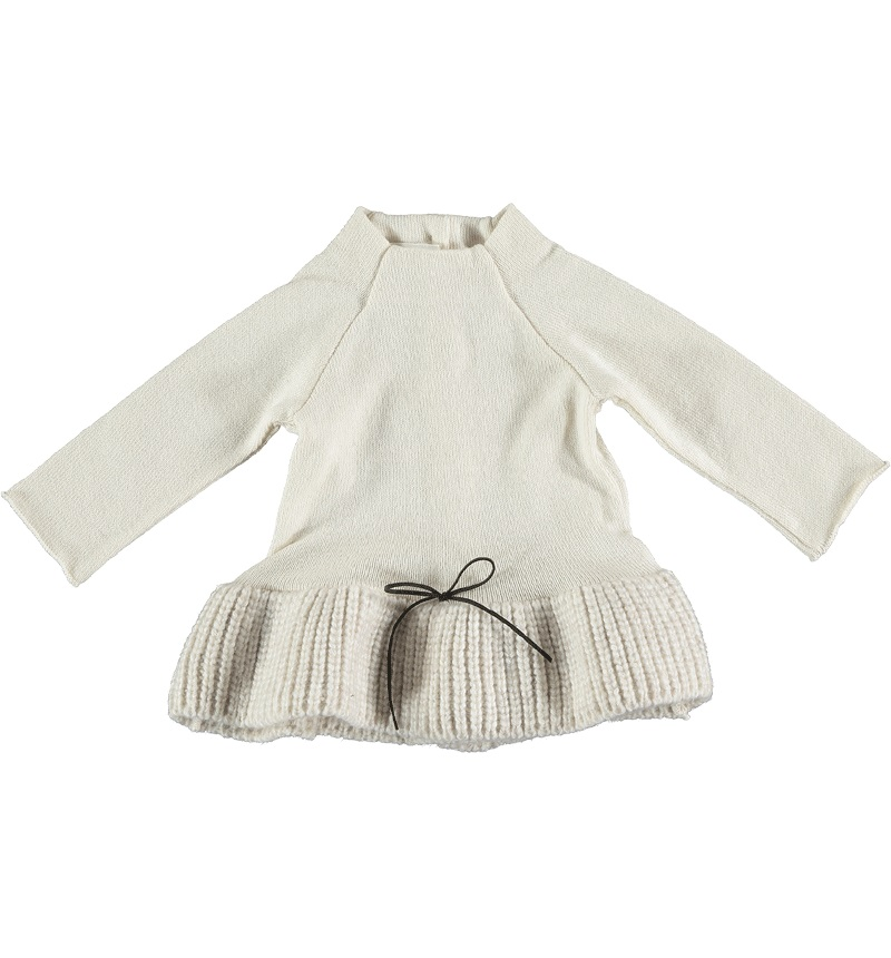 Little Stump WOOL RUFFLED DRESS