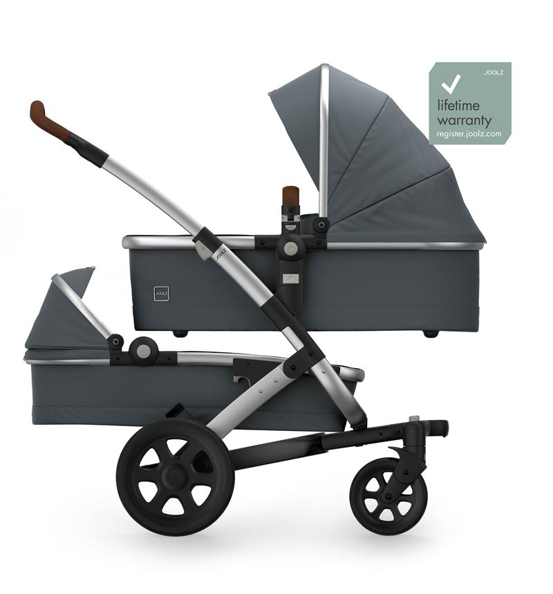 GEO2 DUO GORGEUS GRAY STROLLER by Joolz