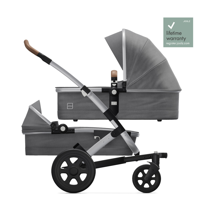 GEO2 DUO RADIANT GRAY STROLLER by Joolz