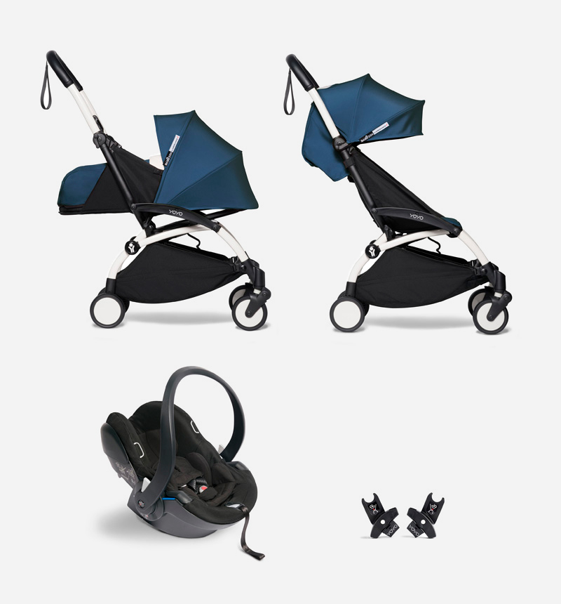 PACK COCHECITO YOYO2 DUO + IZI GO MODULAR BABYZEN + ADAPTADORES AIR FRANCE